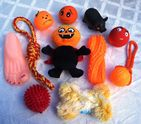 HALLOWEEN DOG TOY SET CREEPY SCARY DOG TOY SELECTION FOR SML-MED DOGS & PUPPIES